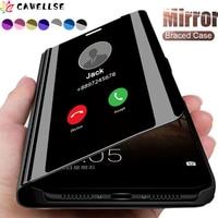 Funda de teléfono con tapa para Samsung Galaxy, carcasa con espejo inteligente para Samsung Galaxy S21 S10 S9 S8 S20 FE Lite Ultra Note 20 10 9 8 Plus S7 Edge S20Fan
