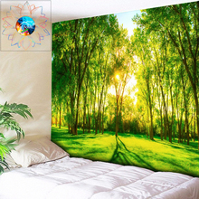 цена на Sun Tapestry Forest Wall Hanging Boho Mandala Tapestry Decoration Home Decor Hippie Psychedelic Tapestry Large tapiz pared tela