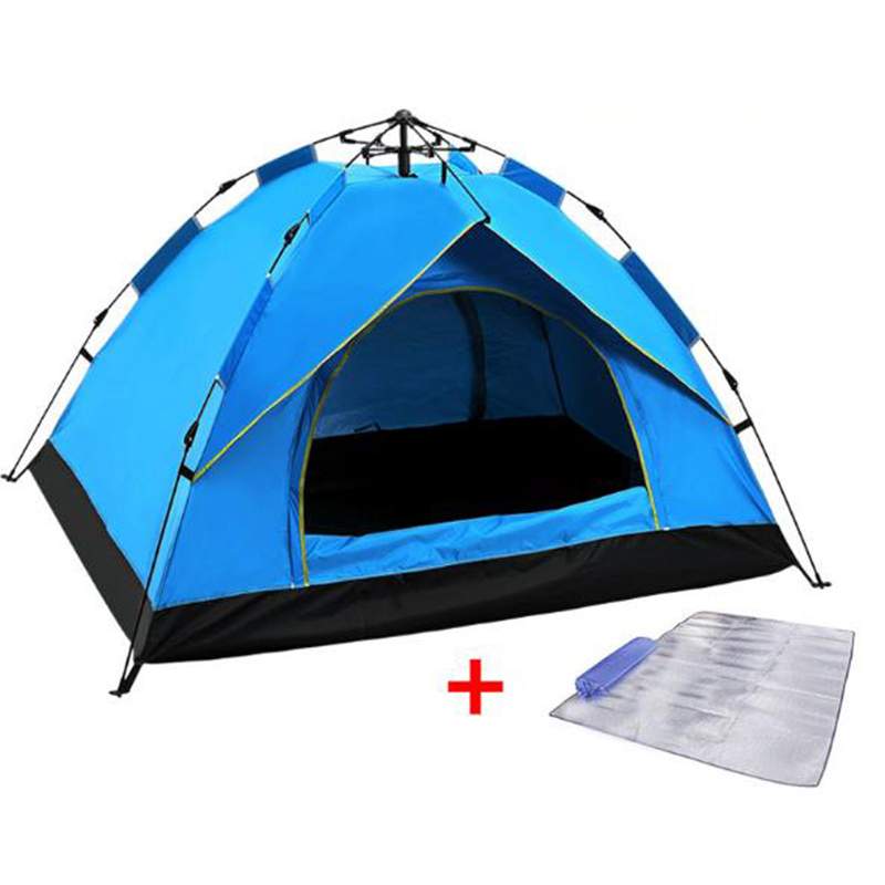 Easy Set Up 4 to 5 Person Instant Family Camping Tent Folding Automatic Popup Instant Tent UPF 50+