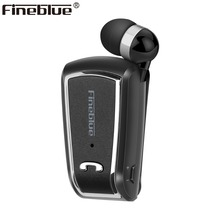 Fineblue F V3 Wireless business Bluetooth Headset Sport Driver Auriculares Earphone Telescopic Clip on stereo earbuds with Mic