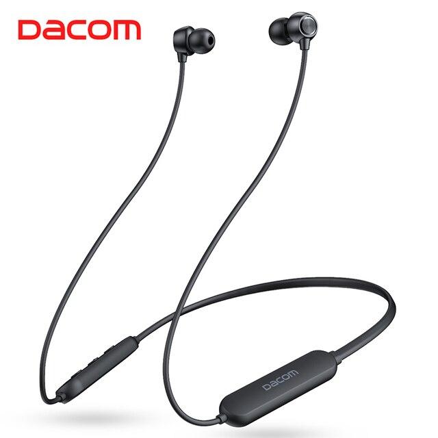 Dacom L03X Bassบลูทูธหูฟังแม่เหล็กหูฟังกีฬากันน้ำหูฟังไร้สายหูฟังพร้อมไมโครโฟนสำหรับIOS Xiaomi