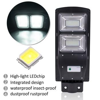 Newest 60W 120 LED 2835SMD Solar Sensor Outdoor Light with Light Control and Radar Sensor Black 5