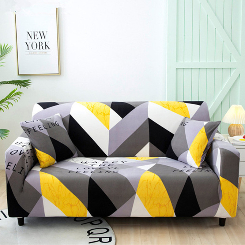 Elastic Sofa Cover for Living Room Funda Sofa Couch Cover Geometric Sectional Armchair Slipcover Stretch Furniture
