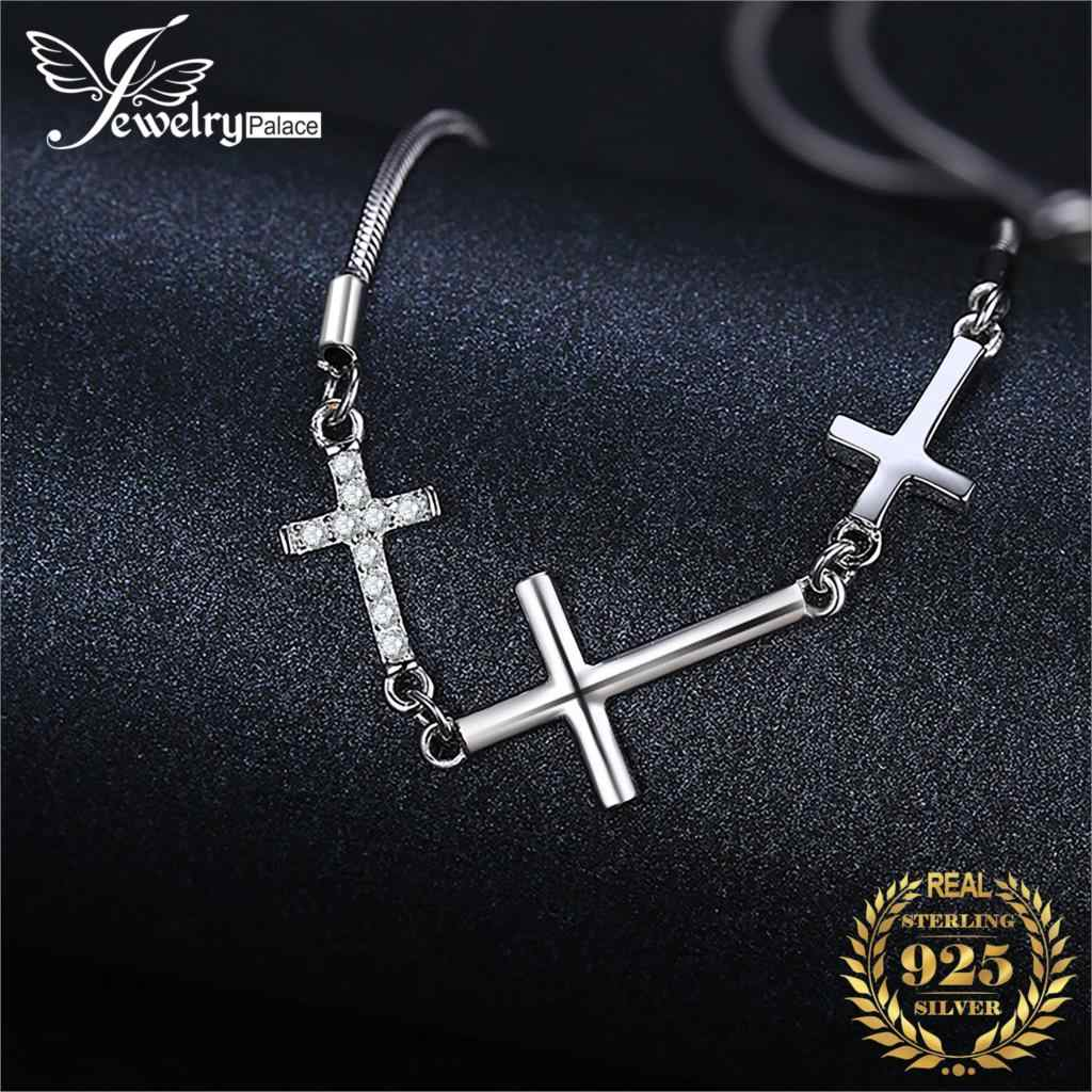 Cross Love Bracelet 925 Sterling Silver Bracelet Snake Chain Bolo Bracelets For Women Silver 925 Jewelry Making Organizer