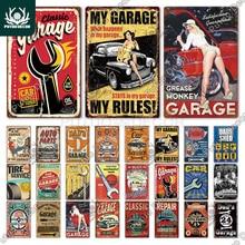 Tin Sign Decor GARAGE Wall-Art Car-Repair Plaque Metal Vintage Man Cave DAD'S