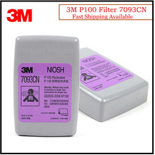 Filtro de cartucho de Gas 3M 7093CN P100, protección contra partículas/PM0.3/soldadura de humo, apto para 3M 6200/6800/7502 mascarilla KM004