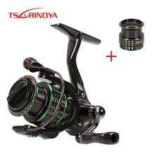 TSURINOYA Spinning Fishing Reel Kingfisher Double Spools Trout Reel 800 1000 1500 Extra Spool Ultralight Micro Bait Lure Reel