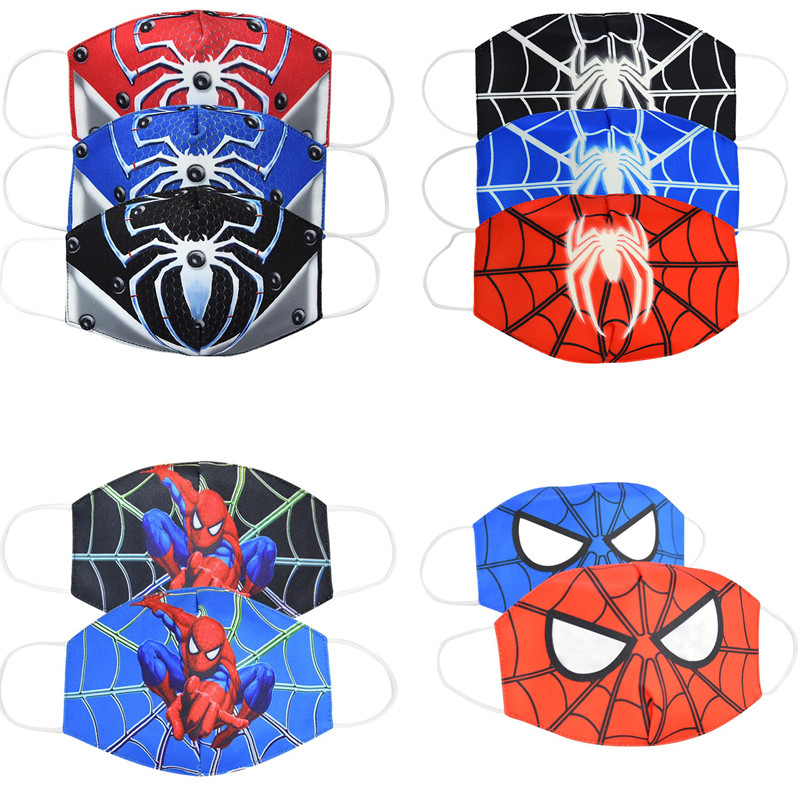 3D Print Spider-Man Face Mask Super Hero Cosplay Costume Adult Child Unisex Halloween Accessories Cotton Masks Props