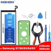 Original NOHON For Samsung Galaxy S3 S4 NFC S5 S6 S7 Battery i9300 i9500 G900 SM-G920 SM-G9300 Real Capacity Replacement Bateria