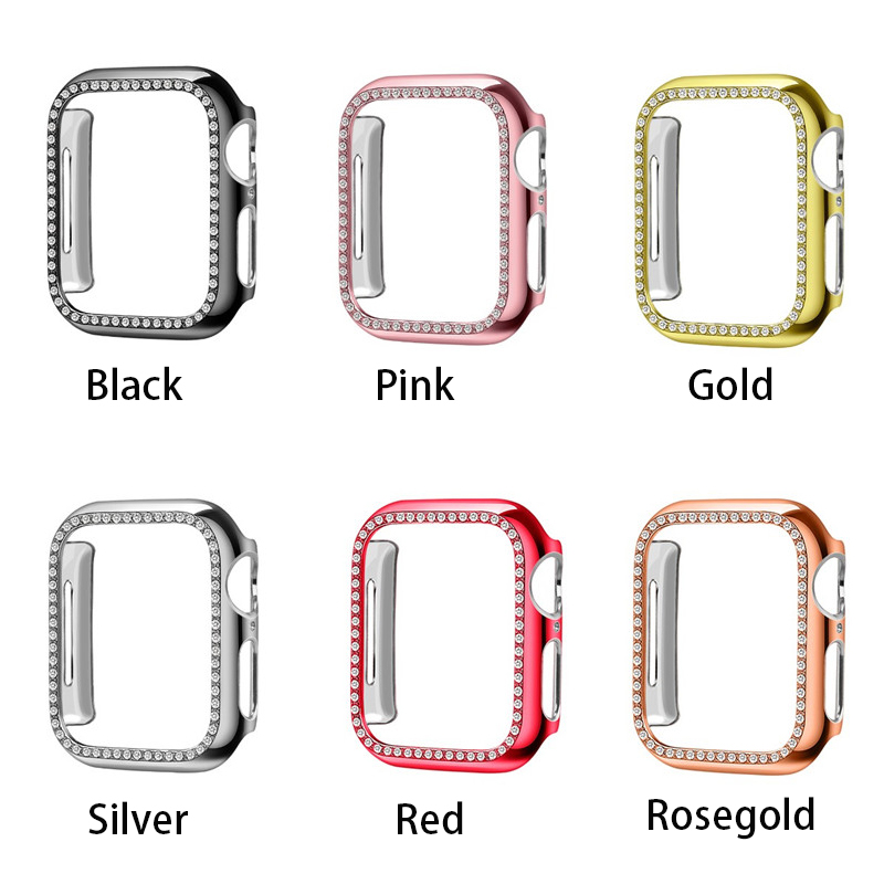 Diamond Bumper Protective Case for Apple Watch Cover Series 5 4 3 2 38MM 42MM Cases For Iwatch 5 4 40mm 44mm watch accessories