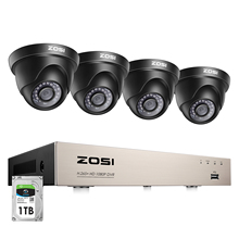 ZOSI 8 채널 HD TVI 1080P 비디오 보안 시스템 H.265 + DVR 레코더 4x HD 2.0MP 실내/실외 비바람에 견디는 CCTV 카메라
