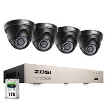 Камера видеонаблюдения ZOSI H.265 +, 8 канальная камера безопасности с защитой от непогоды, 1080P, HD, 4 МП, 2 МП