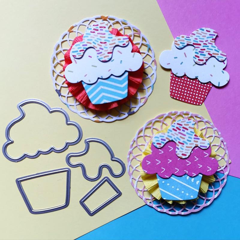 Templates Knife Mold Craft Metal-Dies Cutting Cupcake Card-Making Happy-Birthday-Stencil
