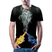 Мужская футболка с 3d принтом животного летняя Азиатский размер