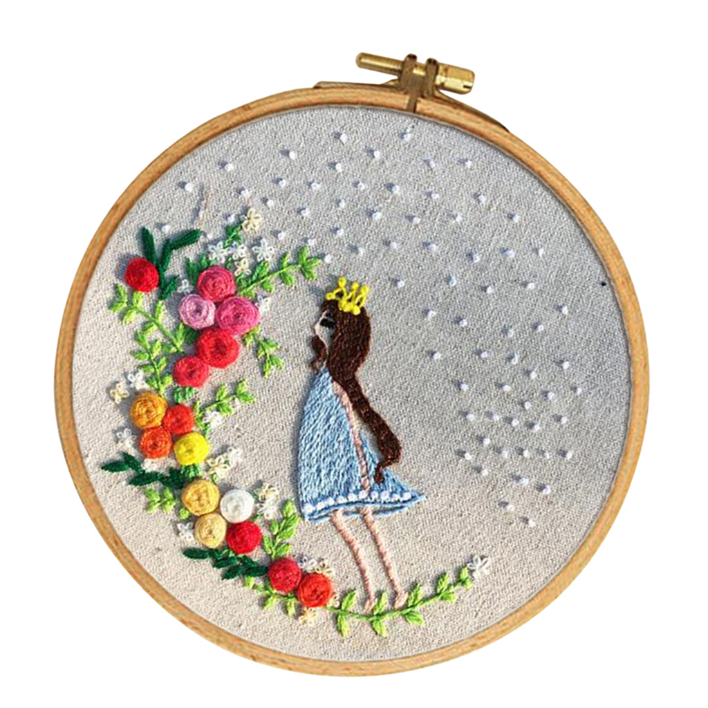 Embroidery Hoop Cross Stitch with Embroidery Cloth Needles Tools Kit for Beginners kesoto 3 Sets Handmade Embroidery Starter Kit Threads