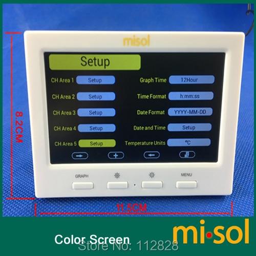 Stazione meteorologica wireless con 5 sensori, 5 canali, schermo a - Strumenti di misura - Fotografia 3
