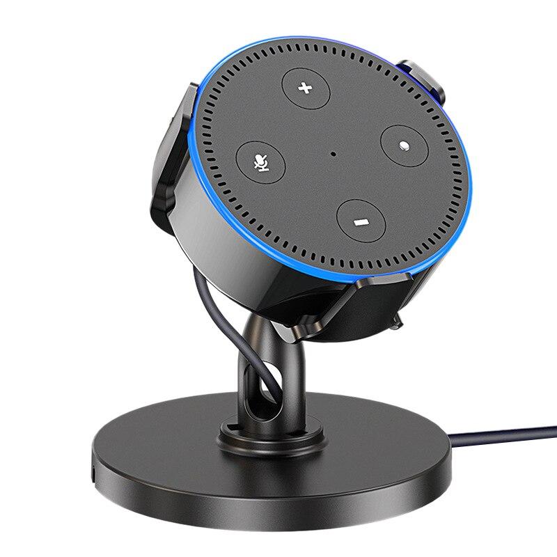 Tüketici Elektroniği'ten Hoparlör Aksesuarları'de Masa üstü tutucu Amazon Echo Dot 2Nd masa üstü tutucu 360 ° ayarlanabilir title=