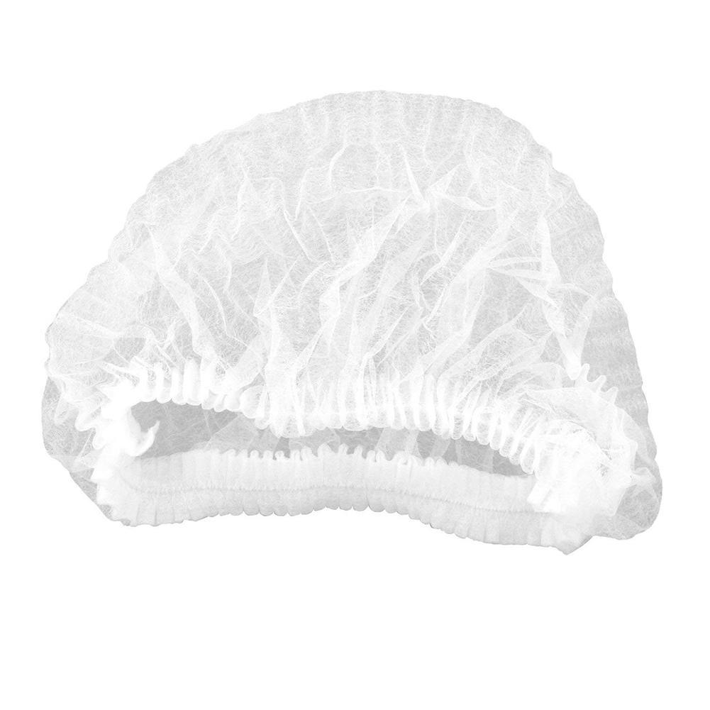 100Pcs Elastic Non-woven Fabric Hair Net Disposable Hat Salon Spar Anti Dust Cap
