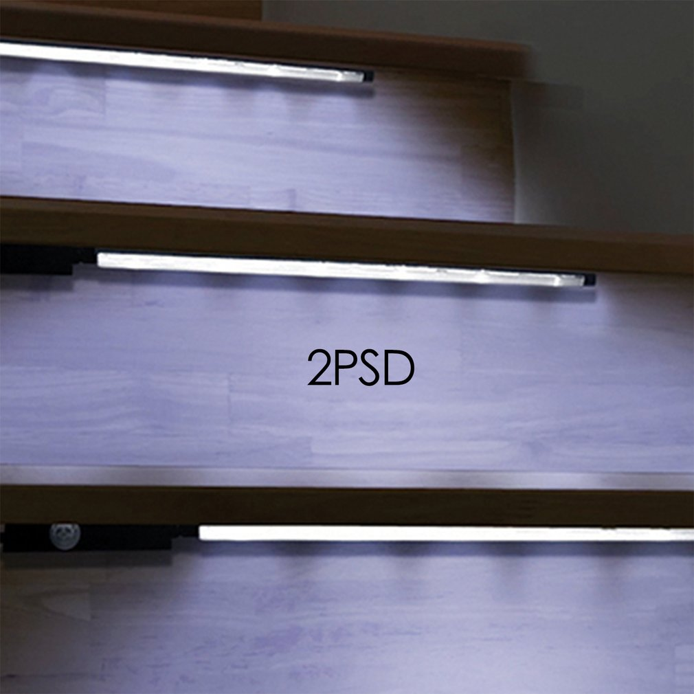 Motion Sensor Activated Accent Lighting LED Strips Battery Operated Light Bars For Cabinets Stairs Doorways