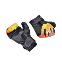 1 Pair 2019-New PU Children Kids Child Cartoon Sparring Kick Boxing Gloves Red Training Age5-12 Black / Red/Blue