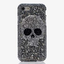 3D Bling Glitter Woman Handmade Rhinestone Diamond Skull Phone Cover Case For Google Pixel 3 4 2 3A Google Pixel 2 3A 3 4 XL(China)