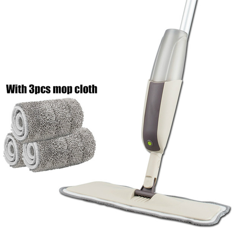 Spray Mop for Hardwood Floors Dust Mop with Microfiber machine washable Pad for a Quick Cleaner with a Refillable Water Bottle image