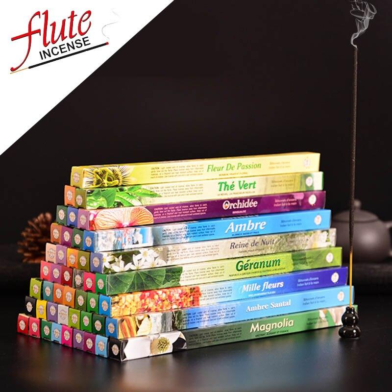 FLUTE 8 Sticks/Box Multi-Style Indian Incense Stick Aroma Sticks Colored Smoke Aromatherapy Kamasutra Sage Smudge Sticks(China)
