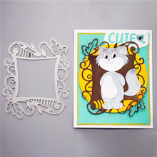Naifumodo Dies Background Frame Metal Cutting for Scrapbooking Craft Card Embossing Die Cut New Template