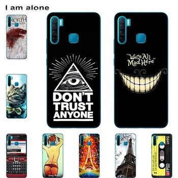Перейти на Алиэкспресс и купить Сумка для мобильного телефона I am alone для Infinix S5 S5 Lite X652, 2019, 6,6 дюйма, Solf, TPU, на заказ, Модный чехол для телефона, бесплатная доставка