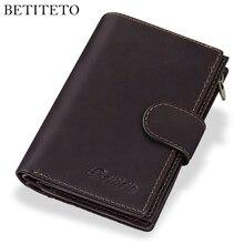 Betiteto couverture en cuir pour hommes, portefeuille de grande capacité, porte monnaie, organisateur
