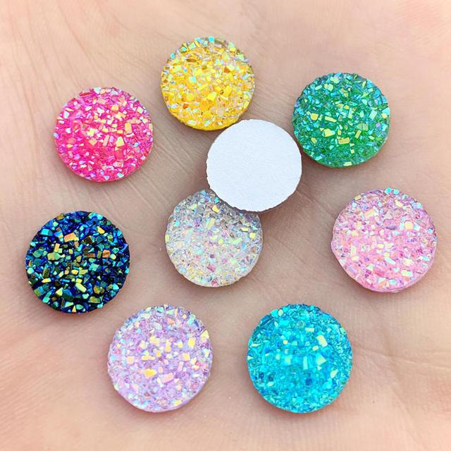 Details about  /12x12 MM Orange Copper Turquoise Round Flatback Cabochon Loose Gemstones SP-285