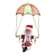 Электрический парашют Санта Клаус Плюшевые игрушки куклы Поющие танцы креативная Рождественская игрушка, подарок электрическая игрушечная кукла