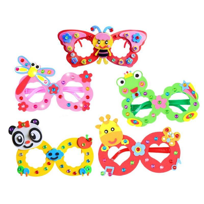DIY EVA Diamond Glasses Hand Paste Making 3D Stereo Sticker Craft Children Toys Exercise Imagination And Logical Thinking