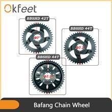 Okfeet Bafang BBSHD BBS03 Midmotor Ebike wymiana 42T 44T 46T koło łańcuchowe dla 8fun centrum silnik typu middrive zestawy
