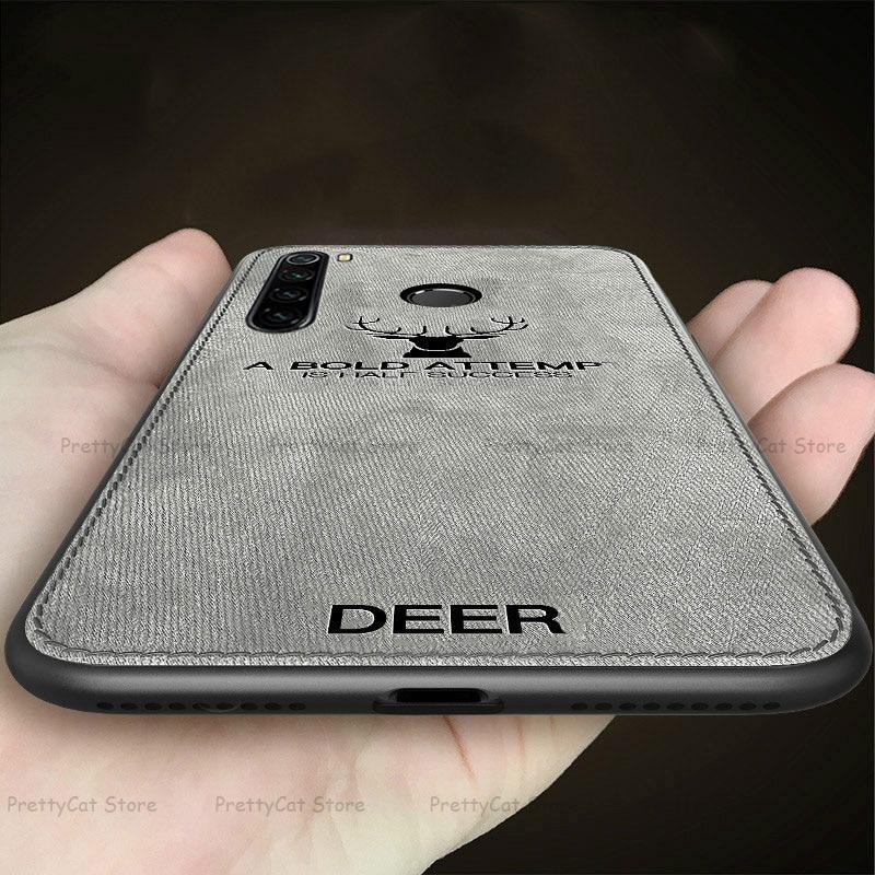 Deer Cloth Phone Case For Xiaomi Mi 9 9SE 8 A2 Lite 6X 5X Pocophone F1 Redmi Note 9S K20 Note 9 8 7 6 5 Pro 8T 8A 7A Cover Coque(China)