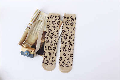 Image 5 - Boys Girls Socks Leopard Cotton Soft Kids Knee High Socks Autumn  Winter Leg Warmers Children Long SockTights