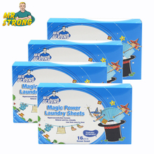 4Boxes New Formula Laundry Detergent Nano Super Concentrated Washing Soap Gentle Washing Powder Sheets Laundry Cleaning Products
