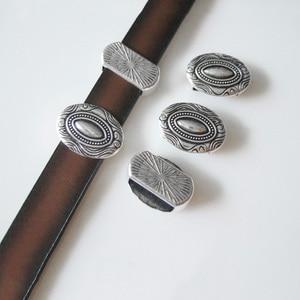 10 шт. Овальный слайдер разделитель бусины фурнитура для браслета 10 мм плоский кожаный шнур аксессуары для браслета
