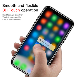 Image 5 - Baseus For iPhone X XS Screen Protector 0.2mm 9H Tempered Glass For iPhone X S Ultra Thin 6D Full Cover Front Protective Glass