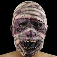 Halloween Mummy Masks Horror Movie Cosplay Latex Helmet Full Face Party Scary Accessories