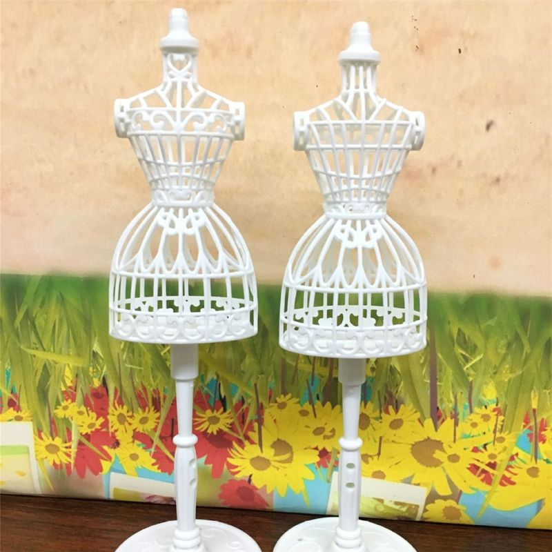 3pcs Display Gown Dress Clothes Rack Doll Mannequin Hollow Model Holder Stand Brabie Blyth #905