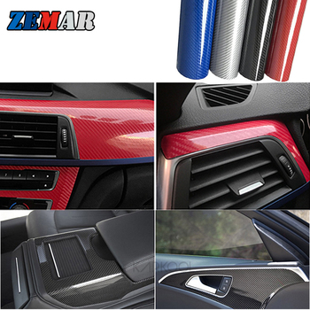 5D Glossy Carbon Fiber Car Stickers For BMW X1 F48 E65 E82 F07 G20 G30 X5 F15 E70 E93 E92 E61 E38 X6 E71 F16 M2 M3 M4 X2 X3 X4 M image