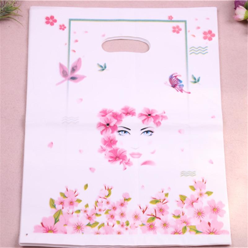 New Design Wholesale 50pcs/lot 25*35cm Luxury Fashion Plastic Packaging Bags For Wedding Cadeau Verpakking