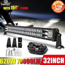 Co-light – lampe de travail LED 420W 620W 820W 980W 1020W, barre lumineuse tout-terrain, faisceau combiné à 2 rangées, 12V 24V, pour 4x4 UTV ATV SUV