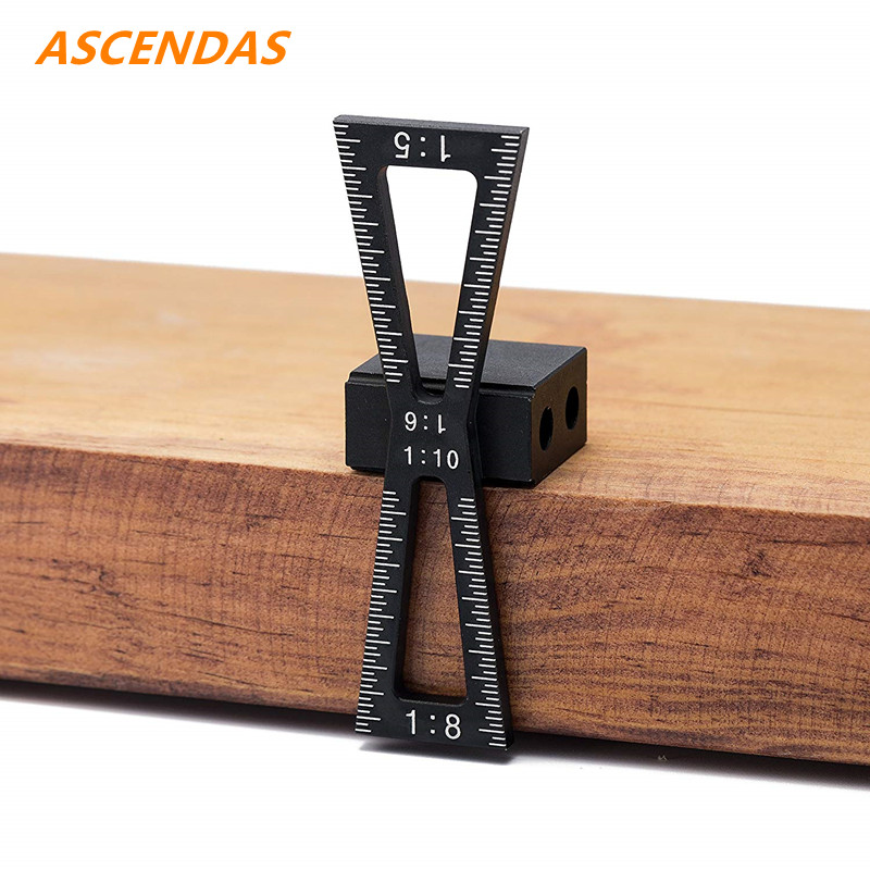 ASCENDAS Dovetail Marking Jig Dovetail Marker Guide Featuring 1:5 1:6 1:8 And 1:10 Woodworking Joints Marking Jig TP-0312