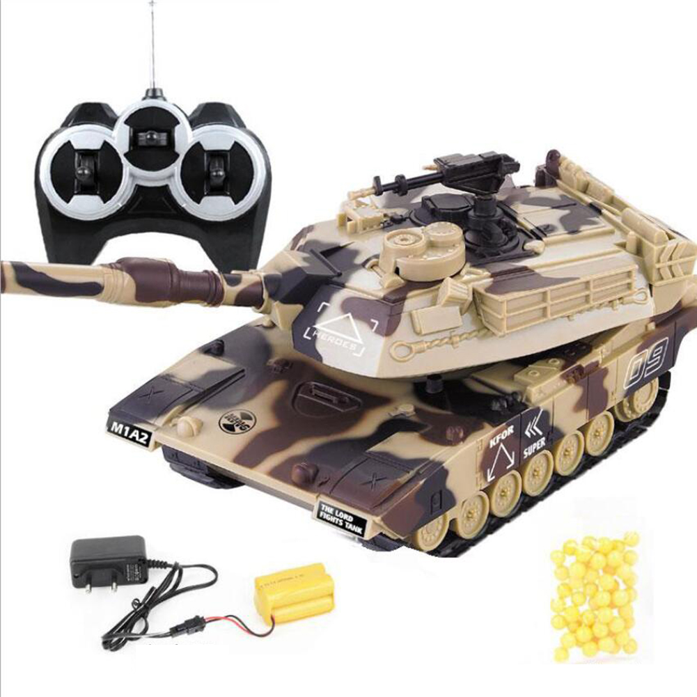 1:32 RC War Tank Tactical Vehicle Main Battle Military Remote Control Tank with Shoot Bullets Model Electronic Hobby Boy Toys