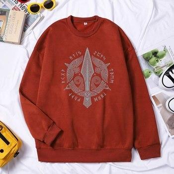 Men Viking Sweatshirt Hoodie Valhalla Odin Hoodie Pullovers Fashion Hoodies Hip Hop Hombres Sudaderas Autumn Winter Streetwear 2