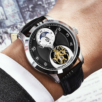 PAGANI DESIGN Fashion Men Mechanical Watch Luxury Sports Watch Men leather Tourbillon Automatic Watch 100M Waterproof Watch loreo authentic automatic mechanical watch waterproof belt diamond fashion luxury elegant hollow lady watch