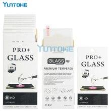 100 pièces/lot verre trempé pour iPhone 12 11 pro XS Max XR X 8 7 6 5 4 protecteurs décran anti rayures protecteur avec boîte de détail