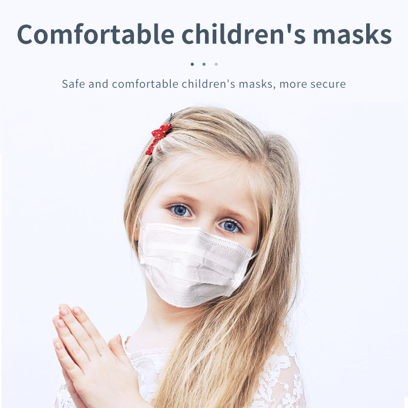 Children White Masks Prevent Non-woven 3-floors Filter Baby Face Mouth Mask Office Japan Safety Boy Girl Masks